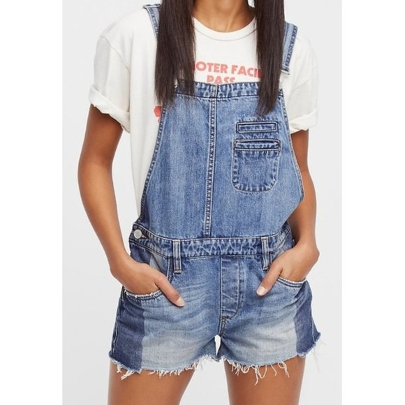Blank NYC Funny Bone Overalls Distressed Romper 24